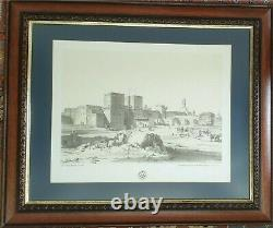 6 Pencil Drawing Picture Prints of Cairo Circa 1830