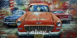 America Style Old Car picture Modern Sculpture Home Decor living Room Decorative