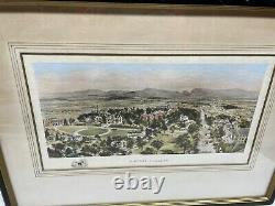 Amherst College Stunning Antique Color Art Print Photograph Drawing Picture RARE