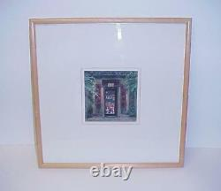 Ann Hysell Pastel Picture Tai Po Man Temple Signed