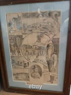 Antique Sketched Dr Price Time Of Death Picture 1893