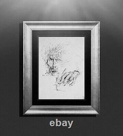 Bleistiftzeichnung Pencil Drawing On Paper Surrealism Unique Signed 1977 Picture