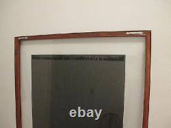 David Bumbeck Etching Signed # 6 of 40 PICTURES In 28x31 Double Glass Frame