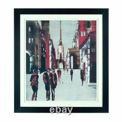 Drawing City Framed Wall Art Paper & Polyresin Hanging Picture Home Décor