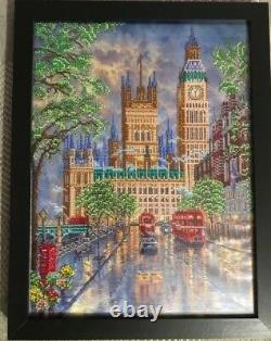 Finished, embroidery picture with beads. Handmade. Over 9.900 Beads, Brand New