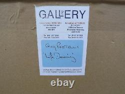Framed Guy Portelli Chalk Drawing Picture'Life Drawing' Seated Nude Signed 2002