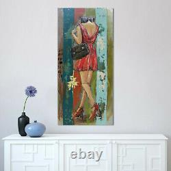 Gorgeous Woman 3D Picture Frame Wall Mount For Bedroom Metal Artwork 3-D Art