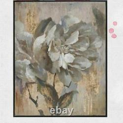 Hand Painted Palette Golden Flower Modern Oil Painting Money Tree Wall Picture
