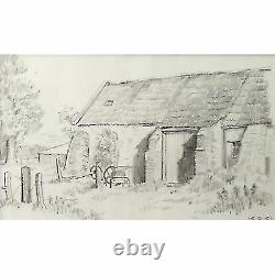 Holloway Bristol Savages The Old Buildings Farmyard Barn Sketch Drawing Picture