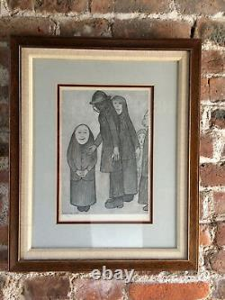 LS Lowry Family Discussion Picture Limited Edition British Artist Vintage