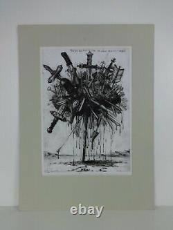 Limited Edition Art Print The Love The Pain Signed Calvin Russell 1/10 Drawing