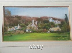 Lovely Pastel Picture By Peter Hesp Exmoor Selworthy Green signed reverse