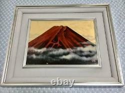 Lucky thing lacquer craft forehead Red Fuji frame picture art