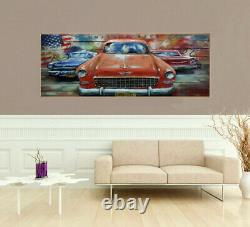 Metal on Canvas Art Craft Hand Made Modern Acrylic Painting Artwork picture Gift