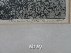 Mid- century original hand drawn picture of San Francisco by Edgar L. Bloomster