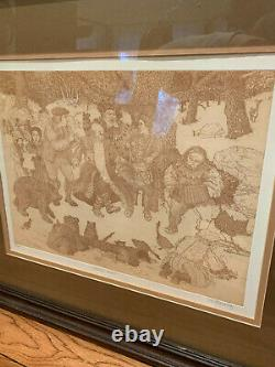 Minstrels Carols Picture Pencil Drawing Signed and numbered
