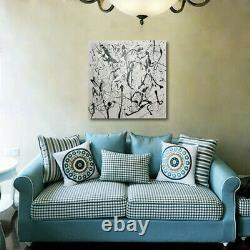Mintura Handmade Oil Paintings On Canva Abstract Line Drawings Picture Wall Art