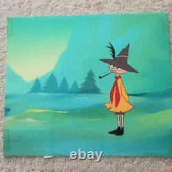 Moomin Snufkin Cel picture 1970's Mushi Production From Japan F/S