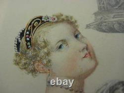 Oil Painting Titian's Daughter Original Picture In The Possession Of T. Rogers