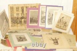 Old Art Pack Artist Folder Painting Drawing Pictures Stitch Lithography