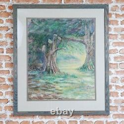 Original Hand Drawn Framed Pastel Picture'TREES' by Caroline Smedley (1999)