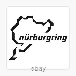 Original Nurburgring Race Track Map Art Sketch A3 Picture Hand Drawn