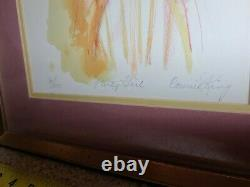 Painting Drawing Picture 90/215 Party Girl Connie King signed lithograph 34s1