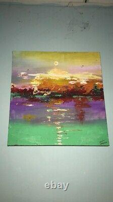Painting sky with cistern Canvas Acrylic Drawing Art Pictures For Living Room