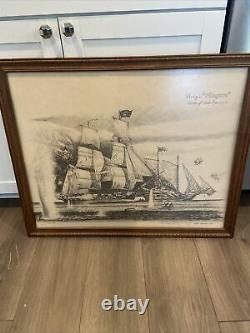 Perrys Niagra Battle Of Lake Erie 1813 40/500 Drawn Picture Homer Lagassey1979