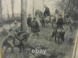 Picture pair print 1884 FRANCO PRUSSIAN 42x52cm EDOVARO DETAILLE