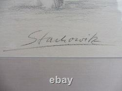 Pretty Picture Pair At Piano Act Original Drawing Signed