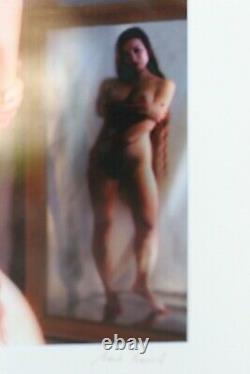 RARE The Artist Model Nude Women Photo Frame Picture Signed By The Artist
