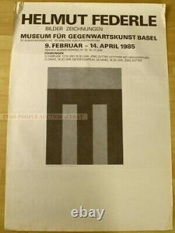 SWISS EXHIBITION POSTER 1985 HELMUT FEDERLE PICTURES DRAWINGS art print