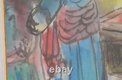Signed Vtg Chinese Art Original Watercolor Painting Picture Drawing China
