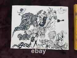 Soviet lily kacharava composition art drawing picture ink painting