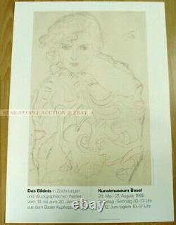 Swiss EXHIBITION POSTER 1988 GUSTAV KLIMT RIA MUNK THE PICTURE IN DRAWINGS