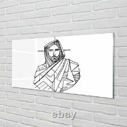 Tulup Acrylic Print 140x70 Wall Art Picture Jesus drawing