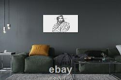 Tulup Canvas print 140x70 Wall Art Picture Jesus drawing