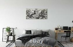 Tulup Canvas print 140x70 Wall Art Picture Jesus drawing people