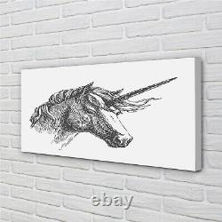Tulup Canvas print 140x70 Wall Art Picture drawing unicorn