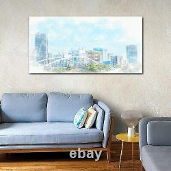 Wall Picture Tempered Glass Print Art landscape Tokyo Asia City drawing 140x70